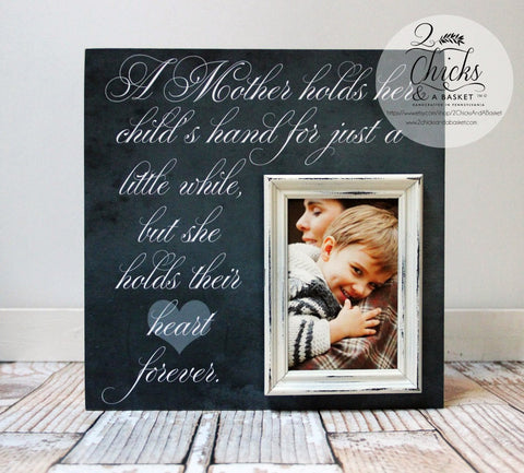 A Mother Holds Her Child's Hand For Just A Little While Personalized Picture Frame, Mom Picture Frame, Mom Gift, Grandma Picture Frame