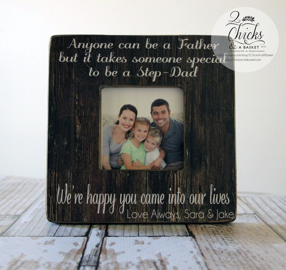 Stepdad Picture Frame, Father\'s Day Gift, Stepdad Personalized Frame ...