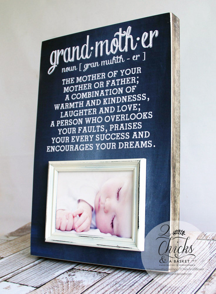 Grandmother Definition Picture Frame, Grandparent Picture Frame ...