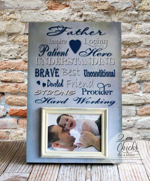 Father Picture Frame, Personalized Picture Frame For Dad, Father's Day Picture Frame