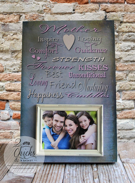 Mother Picture Frame, Personalized Picture Frame For Mom, Mother's Day Picture Frame