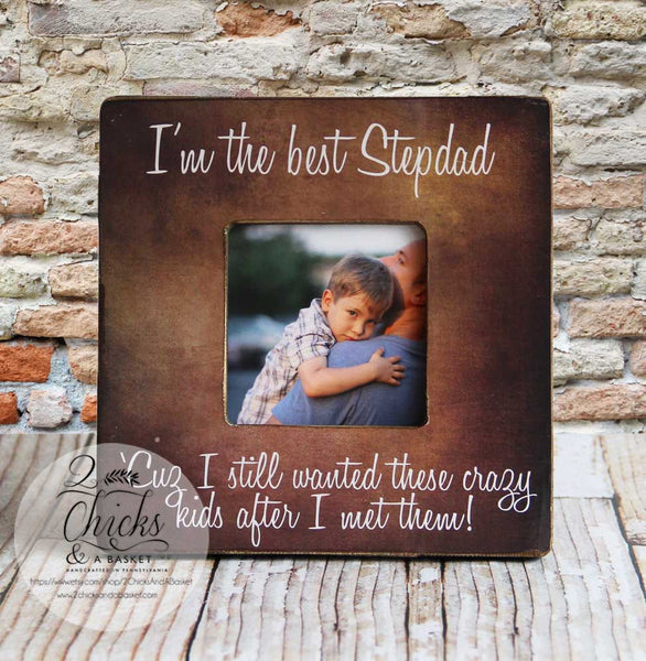 Step Father Picture Frame, Best Step Dad, Father's Day Gift Idea, Gift for Step Dad