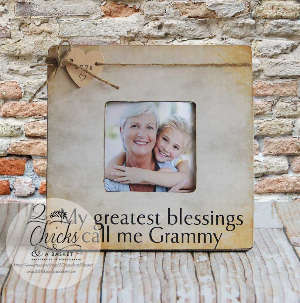 My Greatest Blessings Call Me Grammy Personalized Picture Frame, Mom ...