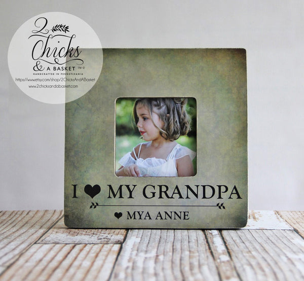 I Love My Grandpa Picture Frame, Grandpa Picture Frame, Personalized Grandpa Frame, Personalized Father's Day Gift