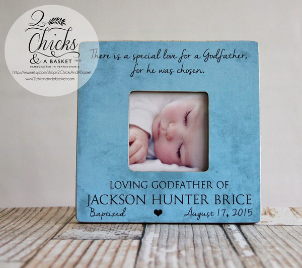 Godfather Gift, Personalized Baptism Picture Frame, Godparent Gift, Baptism Gift Idea, There Is A Special Love For A Godfather