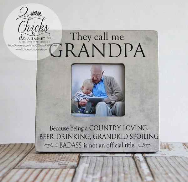 They Call Me Grandpa Funny Picture Frame, Dad Picture Frame, Father's Day Gift, Personalized Grandparent Frame