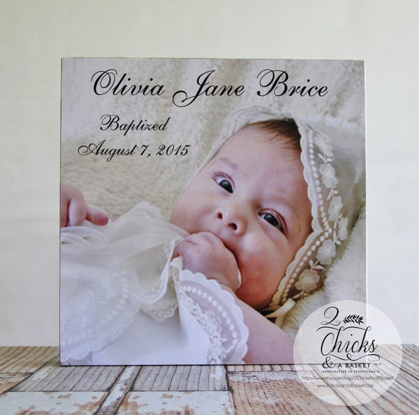 Baptism Picture Panel Personalized, Baptism Gift Idea, Christening Picture Sign Customized