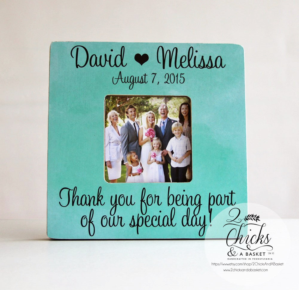 Thank you for being part of our special day picture frame thank you for being part of our special day picture frame personalized wedding picture frame custom wedding keepsake jeuxipadfo Image collections