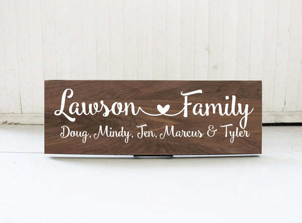 Personalized Family Name Sign, Rustic Wood Family Sign, Family Wall Sign, Family Sign Gift Idea, Last Name Sign