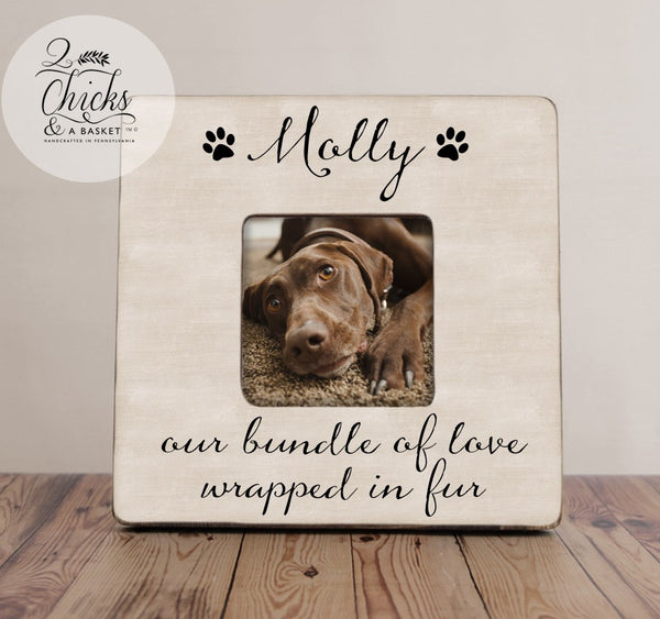 Personalized Pet Picture Frame, Custom Dog or Cat Frame, Our Bundle Of Love Wrapped In Fur, Fur-Kid Picture Frame