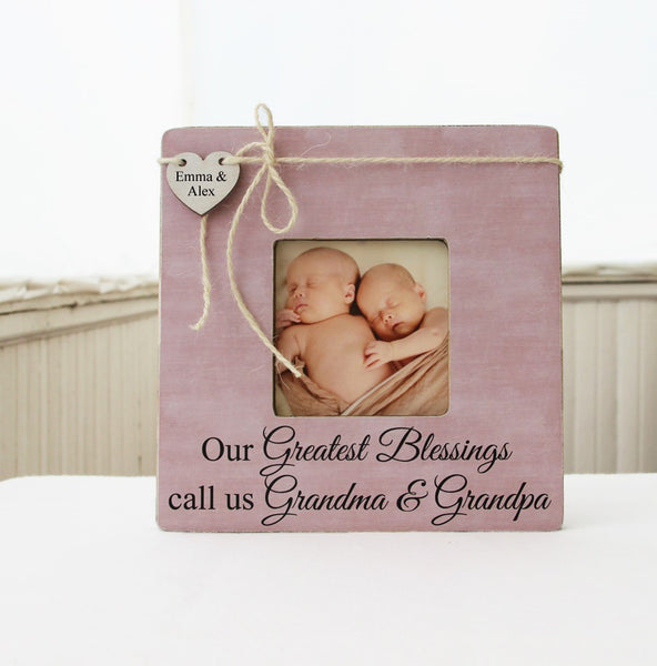 Our Greatest Blessings Picture Frame, Gift for Grandparents, Grandma And Grandpa Gift, Personalized Grandparent