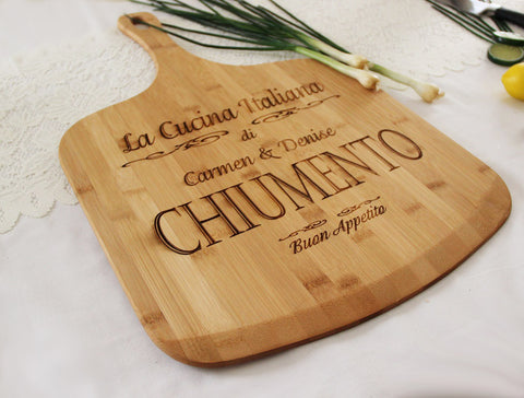 Personalized Pizza Paddle, Custom Engraved Cutting Board, Great Gift Idea, Wood Pizza Board