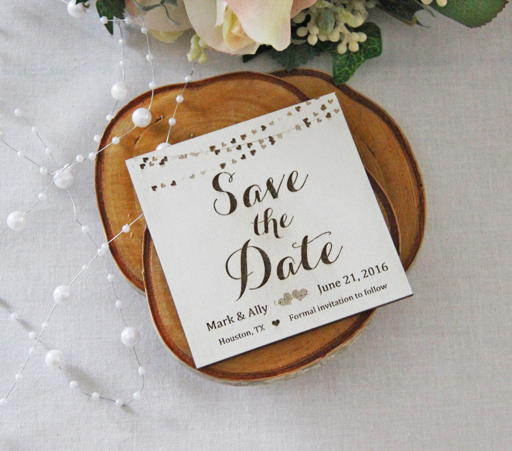 Save the Date Magnet, Wedding Announcement, Wood Save the Date ...