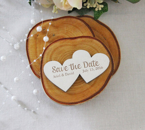 Save the Date Magnet, Wedding Announcement, Wood Save the Date, Rustic Wedding Announcement, Heart Shaped Save the Date