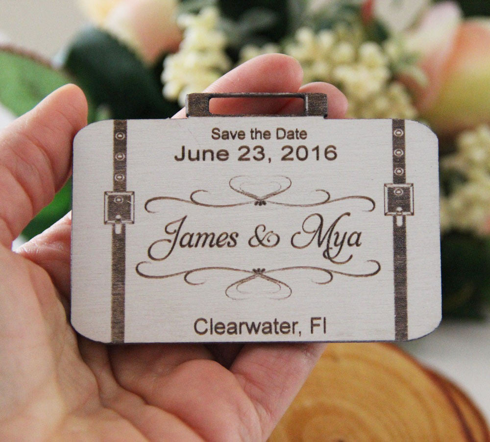 Save the Date Magnet Wedding Announcement Wood Save the Date – Destination Wedding Save the Date Magnets