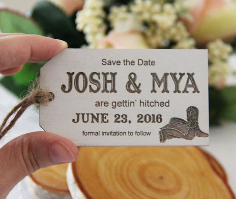 Save the Date Magnet, Wedding Announcement, Wood Save the Date, Rustic Wedding Announcement, Western Themed Wedding