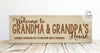 Welcome To Grandma & Grandpa's House Sign, Grandma's House Sign, Where Cousins Go To Become Best Friends, Grandparent Gift