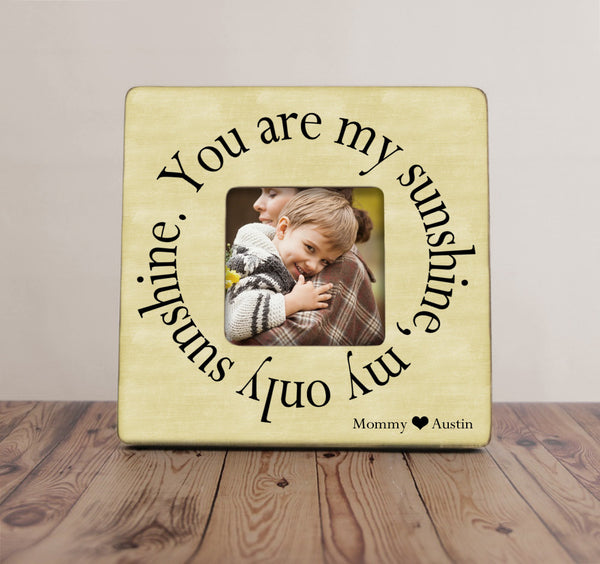 You Are My Sunshine Picture Frame, Mom Picture Frame, Mother Gift, Mother's Day Picture Frame
