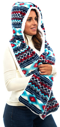 Aztec Lifestyle Hooded Scarves - Trailcrest.com