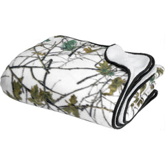 60X80 Soft Touch Reversible Snow Forest Camo Blanket - Trailcrest.com