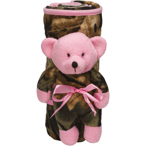 Camo Plush Bear N' Blanket - Trailcrest.com