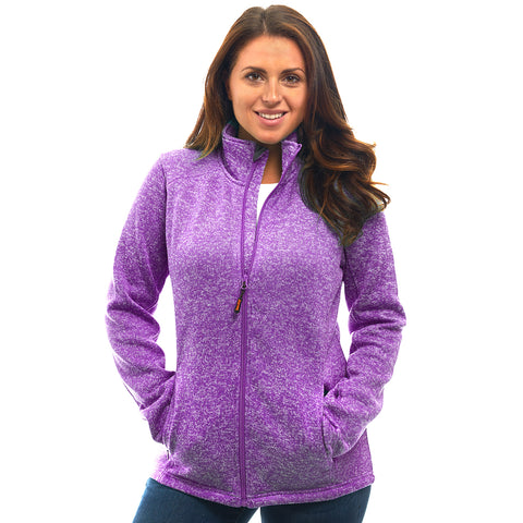 Women's Heather Signature Sweater Fleece Full Zip Jacket