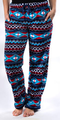 Ultra Soft Coral Fleece Aztec Lounge Pants