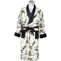Men's Snow Forest Camo Romanta Coral Fleece Robe - Trailcrest.com