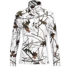 Women's Snow Forest Camo Impulse 4-Way Stretch 1/4 Zip Jacket - Trailcrest.com