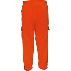 Men's Blaze Orange Double Fleece Cargo Sweatpants - Trailcrest.com
