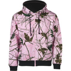 Women's Pink Forest Camo Cambrillo Full Zip Hooded Sweatshirt - Trailcrest.com