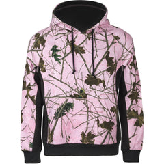 Girls Pink Forest Camo Cambrillo Hooded Sweatshirt - Trailcrest.com