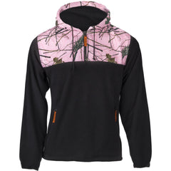 Women's Pink Forest Camo C-Max Hooded 1/4 Zip Hoodie - Trailcrest.com