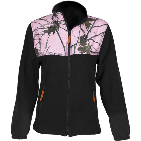 Kids Pink Forest Camo C-Max Full Zip Wind Jacket - Trailcrest.com