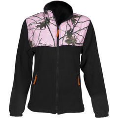 Women's Pink Forest Camo C-Max Full Zip Wind Jacket - Trailcrest.com