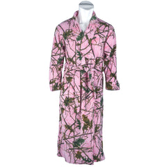 Girls Pink Forest Camo Romanta Coral Fleece Robe - Trailcrest.com