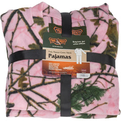 Girls Pink Forest Camo Daysor Pullover 2Pc Pajama Set - Trailcrest.com