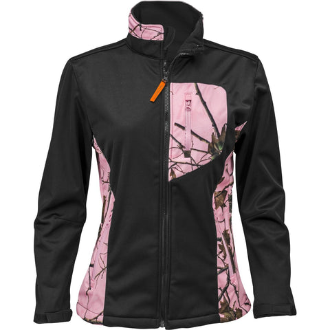 Women's Pink Forest Camo Custom Xrg Soft Shell Jacket - Trailcrest.com