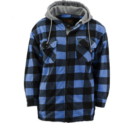 Men's Thurmond Sherpa Lined Plaid Work Jacket - Trailcrest.com