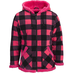 Women's Plaid Full Zip Fleece Jacket - Trailcrest.com
