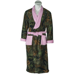 Kids Pink Camo Romanta Coral Fleece Robe - Trailcrest.com