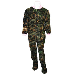Women's Pink Camo Daysor Footed Pj-Lounger - Trailcrest.com