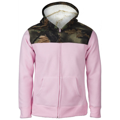 Women's Camo Albates Soft Bonded Sherpa-Lined Hooded Jacket - Trailcrest.com