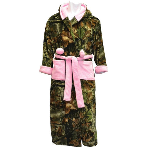 Women's Camo Romanta Hooded Coral Fleece Robe - Trailcrest.com