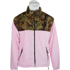 Women's Camo Coral Fleece Full Zip Jacket - Trailcrest.com