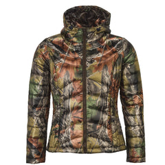 Women's Camo Ultra Thermic Silk Padded Hooded Quilted Jacket - Trailcrest.com