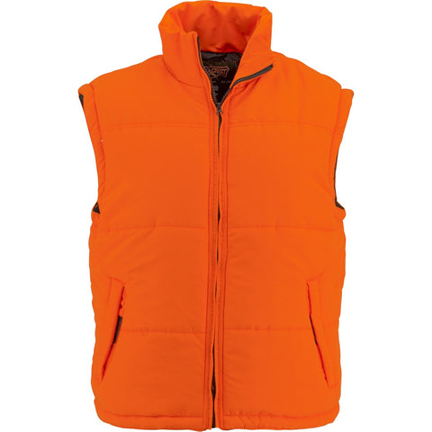 Men's Blaze Orange Reversible Puffer Vest - Trailcrest.com