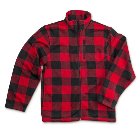 Men's Plaid Signature Sweater Fleece Full Zip Jacket - Trailcrest.com