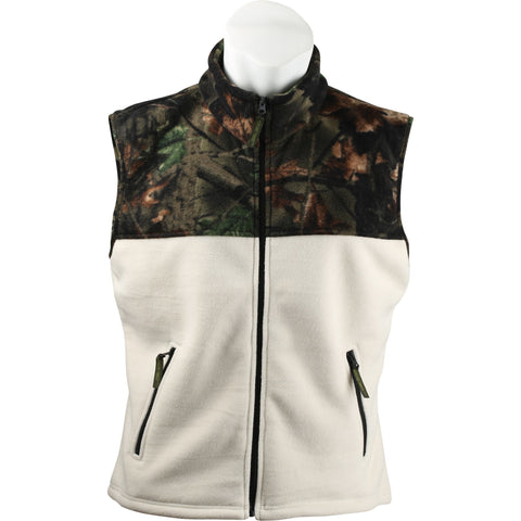 Women's Camo Albates Soft Bonded Sherpa-Lined Vest - Trailcrest.com