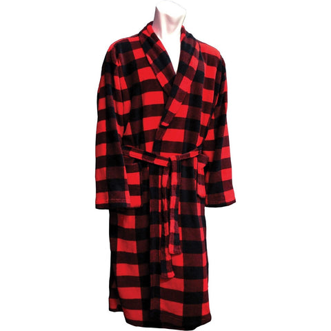 Romanta Coral Fleece Plaid Robe